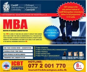 Cardiff Metropolitan University MBA (Master of Business Administration) in Sri Lanka