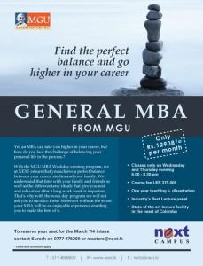 MGU General MBA in Srilanka