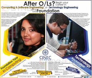 After OLs degree programme from CINEC Campus – April 2014
