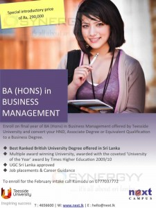 BA (Hons) in Business Management