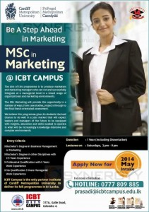 MSC in Marketing by ICBT Campus