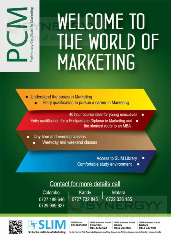 Slim Preliminary Certificate In Marketing New Enrollment And