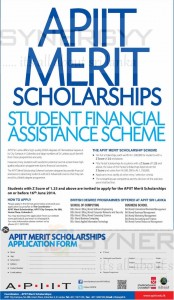 APIIT Merit Scholarships for Student needed Financial Assistant – Apply on or before 16th June 2014