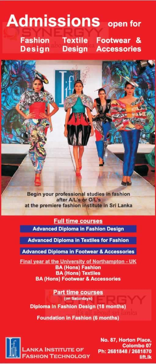 Admissions Open For Fashion Designing Textile Designing And Footwear Accessories June 2014 Education Synergyy