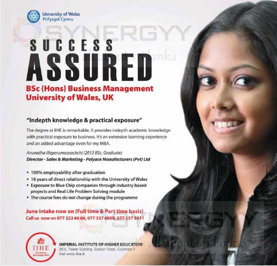 BSc (Hons) Business Management University Of Wales By IIHE