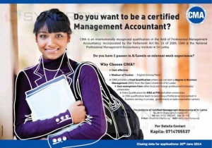 CMA Srilanka -  New Enrolments Open now