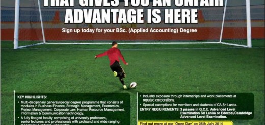 BSc. (Applied Accounting) from School of Accounting & Business (the Institute of Chartered Accountants of Sri Lanka)