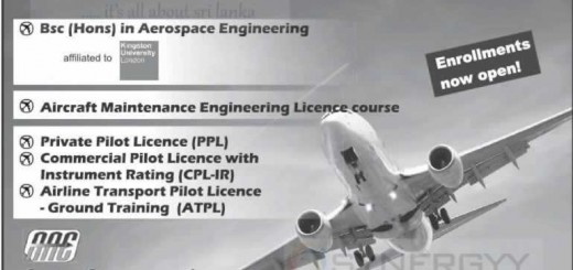 Become a Commercial Pilot in Srilanka by Asian Aviation Centre
