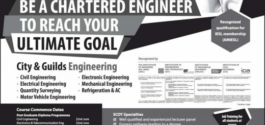 Chartered Engineer – Course Details in Srilanka