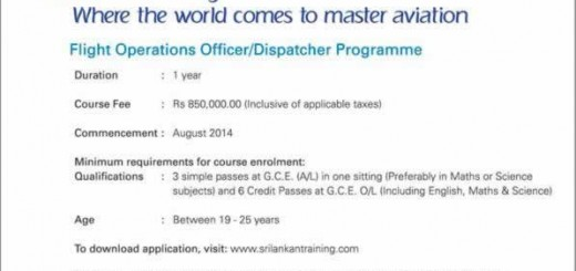 Srilankan Airlines Flight Operations OfficerDispatcher Programme by Srilankan Training