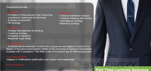 The Institute of Chartered Accountants of Srilanka – Post Graduate Diploma in Business & Finance