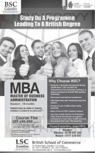 Cardiff Metropolitan University MBA in Sri Lanka from LSC