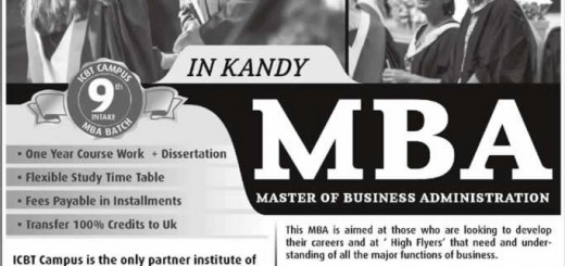 MBA in Kandy by ICBT Kandy Campus