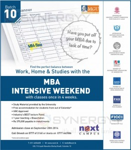 NEXT Campus MBA – Enrolment starts for 20th September 2014 intakes