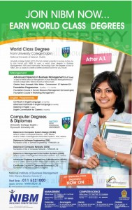 NIBM Degrees and Diploma Programme in Management, IT and English – Application calls now
