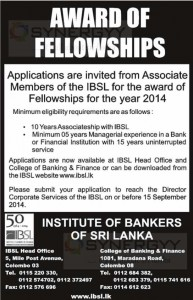 Application invites for Associate Membership to Fellowship Membership of IBSL