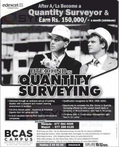 BTec HND in Quantity Surveying at BCAS CAMPUS