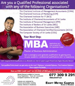 MBA from London Metropolitan University for Qualified Professional