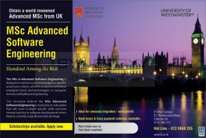 MSc Advanced Software Engineering from University of Westminster