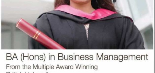 BA (Hons) in Business Management from Teesside University