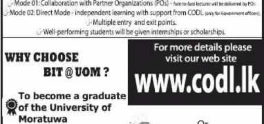 Bachelor of Information Technology (BIT) External Degree by University of Moratuwa – Application Calls now