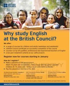 British Council English Courses in Sri Lanka