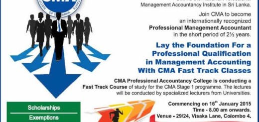 CMA Sri Lanka – Sri lanka Management Accountant Qualification