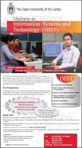 Diploma in Information Systems and Technology (DIST) by The Open University of Sri Lanka – Application calls now