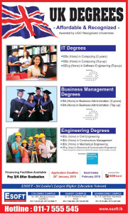 ESoft UK Degree programme – Application calls for February 2015 Intakes