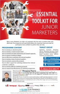 Essential Toolkit for Junior Marketers – Workshop by Prasanna Perera