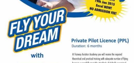 Fairway Aviation Academy - Private Pilot License (PPL) Programme – Enrollment now