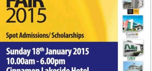 Malaysian Education Fair 2015 – 18th January 2015