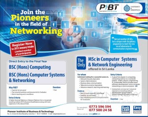 PIBT B.Sc and M.Sc Degree programme - Application calls for new intakes