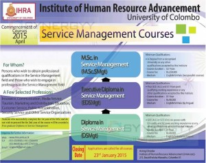 Postgraduate Degree programme from Institute of Human Resource Advancement, University of Colombo – Application calls now