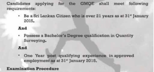 Quantity Surveyor Course in Sri Lanka from The Institute of Quantity Surveyors of Sri Lanka