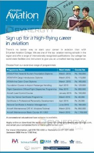 Sri Lankan Airline Aviation College – New Enrollments for courses