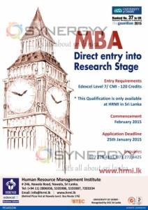 University of Derby MBA Programme in Sri Lanka