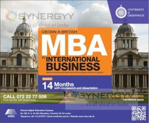 University of Greenwich MBA in Sri Lanka