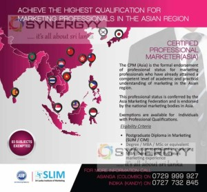 Certified Professional Marketer (Asia) Professional Qualification in Sri Lanka