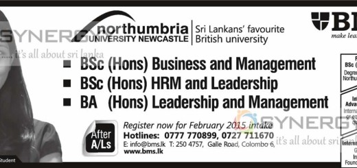 Degree in Business Management – from BMS Sri Lanka