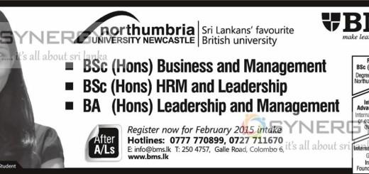 Degree in Business Management – from BMS Sri Lanka