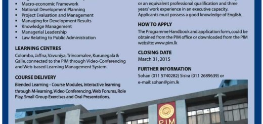 Master of Public Administration (MPA) Online Learning from Postgraduate Institute of Management (PIM)