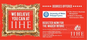 Bachelor and Master of Business Administration Degree from IIHE
