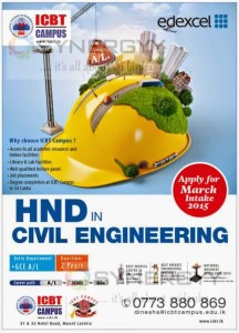 HND in Civil Engineering from ICBT Campus