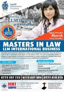 Masters in Law - LLM International Business from ICBT Campus