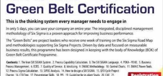 Six Sigma Green Belt Certification