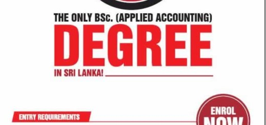 The Institute of Chartered Accountants of Sri Lanka BSc in Applied Accounting – Bachelor Degree Now in Sri Lanka