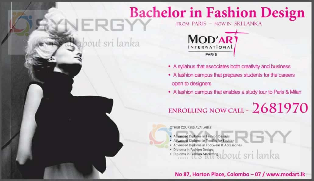 Fashion Design Degree In Sri Lanka By Mod Art Education