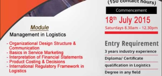 Diploma in Logistics from Aquinas University College