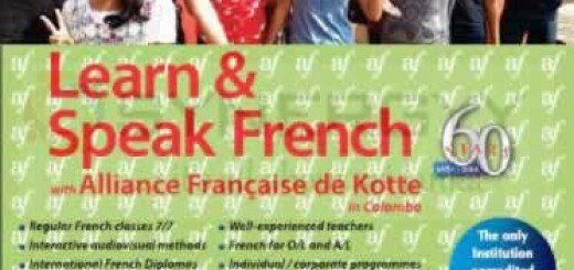 Learn & Speak French with Alliance Francaise de Kotte – New Intakes on 10th July 2015